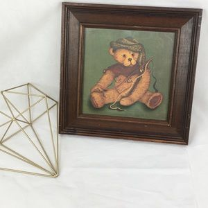 Framed Jester Teddy Bear Picture